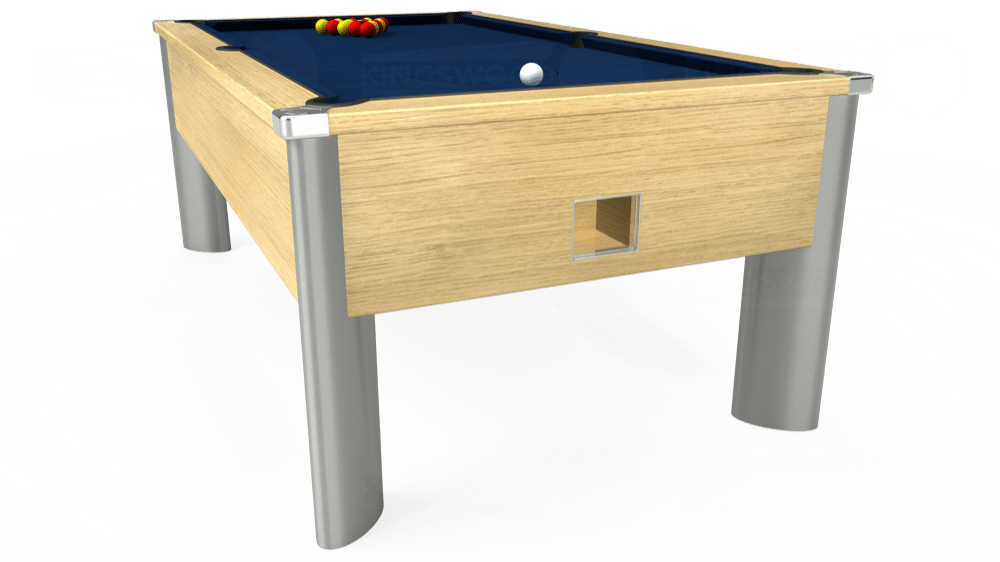 7ft Monarch Fusion Free Play Pool Table in Light Oak with Hainsworth Elite-Pro Marine Blue cloth delivered and installed - £1,300.00