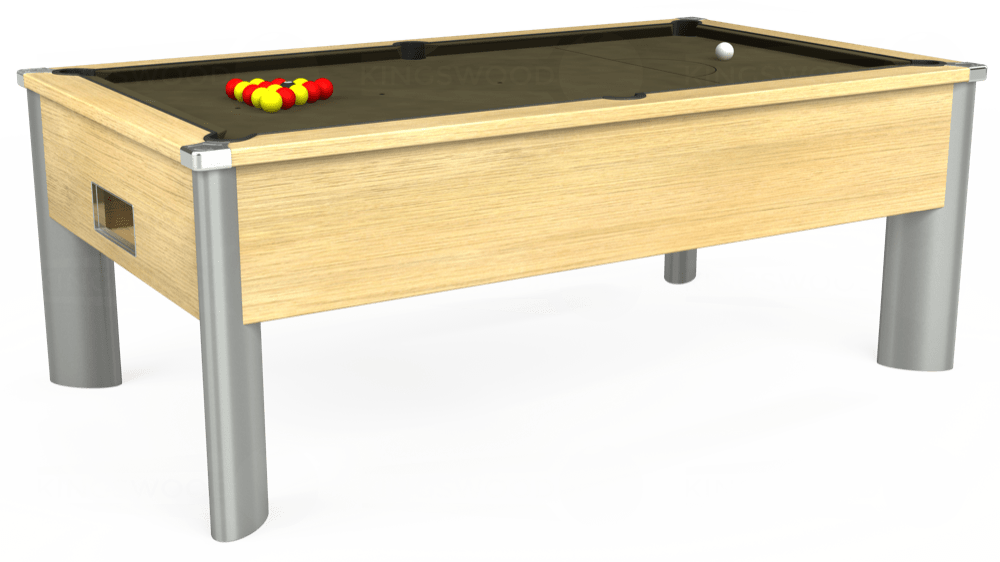 7ft Monarch Fusion Free Play Pool Table in Light Oak with Hainsworth Elite-Pro Olive cloth delivered and installed - £1,300.00