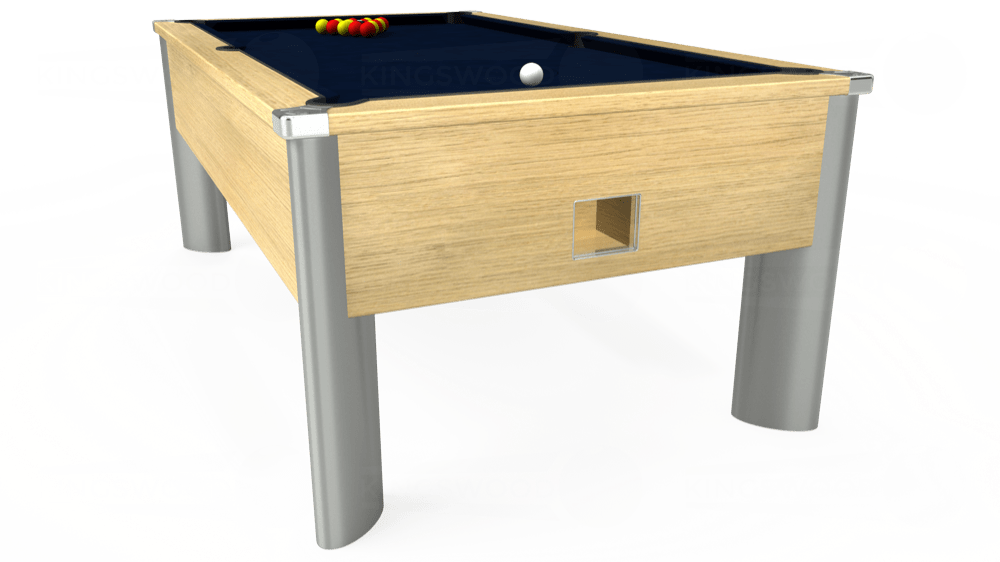 7ft Monarch Fusion Free Play Pool Table in Light Oak with Hainsworth Smart French Navy cloth delivered and installed - £1,300.00