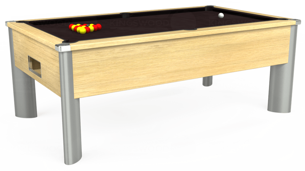 7ft Monarch Fusion Free Play Pool Table in Light Oak with Hainsworth Smart Nutmeg cloth delivered and installed - £1,300.00