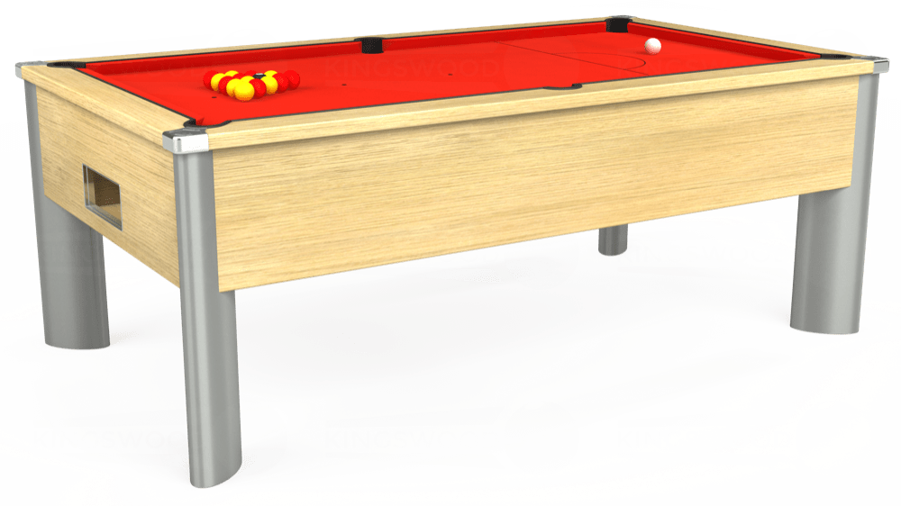 7ft Monarch Fusion Free Play Pool Table in Light Oak with Hainsworth Smart Orange cloth delivered and installed - £1,300.00