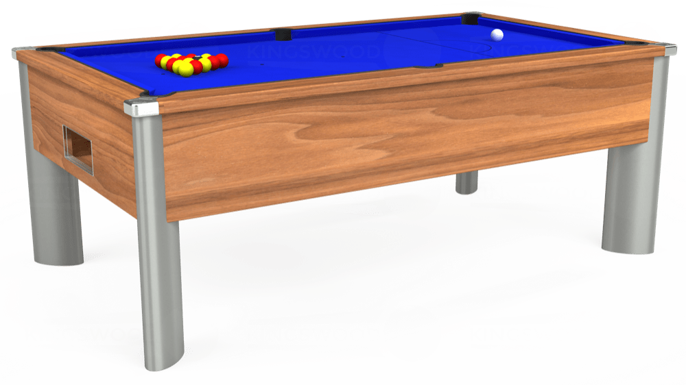 7ft Monarch Fusion Free Play Pool Table in Light Walnut with Standard Blue cloth delivered and installed - £1,200.00