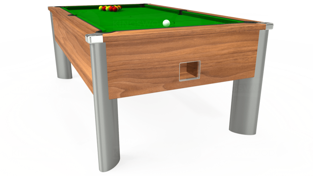 7ft Monarch Fusion Free Play Pool Table in Light Walnut with Standard Green cloth delivered and installed - £1,165.00