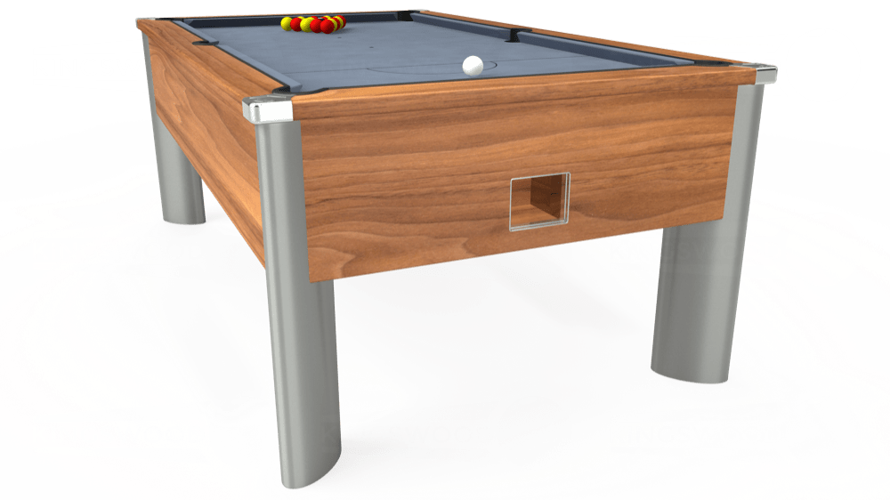 7ft Monarch Fusion Free Play Pool Table in Light Walnut with Hainsworth Elite-Pro Bankers Grey cloth delivered and installed - £1,240.00