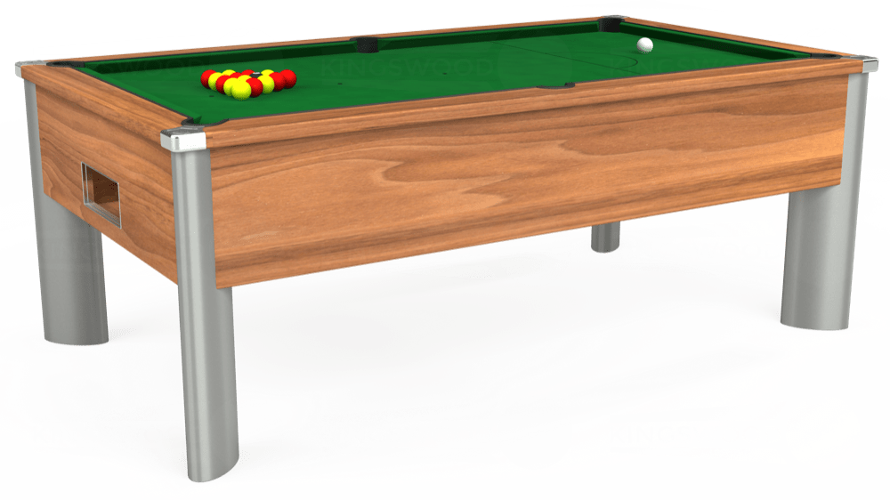 7ft Monarch Fusion Free Play Pool Table in Light Walnut with Hainsworth Elite-Pro English Green cloth delivered and installed - £1,265.00