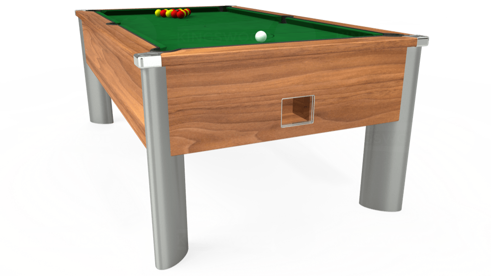 7ft Monarch Fusion Free Play Pool Table in Light Walnut with Hainsworth Elite-Pro English Green cloth delivered and installed - £1,240.00