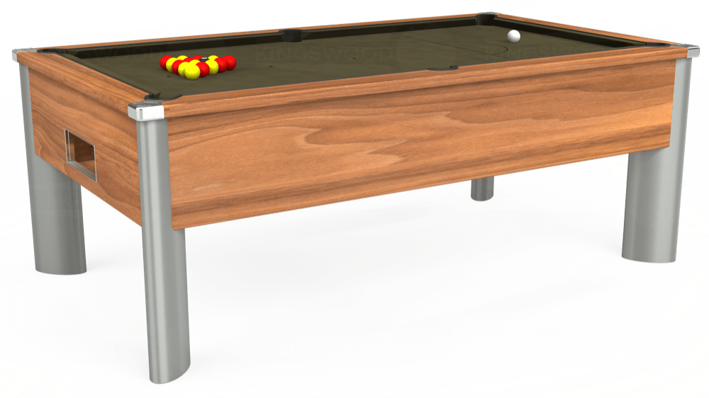 7ft Monarch Fusion Free Play Pool Table in Light Walnut with Hainsworth Elite-Pro Olive cloth delivered and installed - £1,300.00