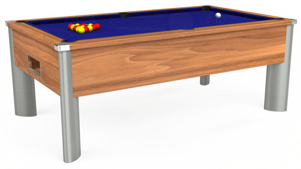 7ft Monarch Fusion Free Play Pool Table in Light Walnut with Hainsworth Smart Royal Blue cloth delivered and installed - £1,300.00
