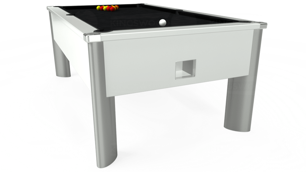 7ft Monarch Fusion Free Play Pool Table in White with Hainsworth Smart Black cloth delivered and installed - £1,300.00