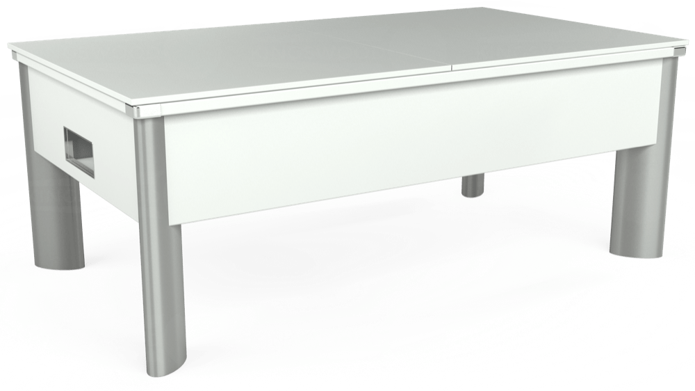 7ft Monarch Fusion Free Play Pool Table in White with Hainsworth Smart Powder Blue cloth delivered and installed - £1,300.00
