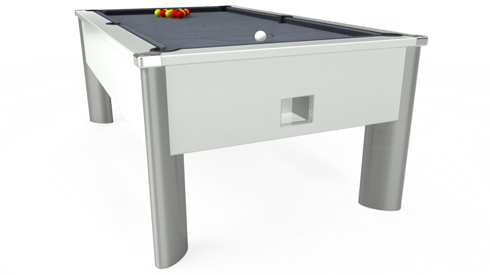 7ft Monarch Fusion Free Play Pool Table in White with Hainsworth Smart Silver cloth delivered and installed - £1,300.00