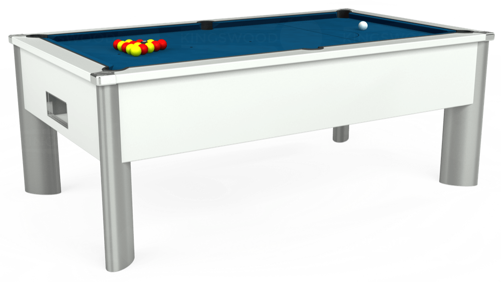 7ft Monarch Fusion Free Play Pool Table in White with Hainsworth Smart Slate cloth delivered and installed - £1,300.00