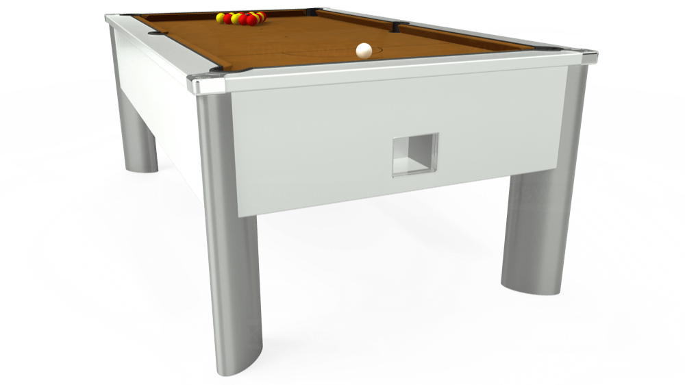 7ft Monarch Fusion Free Play Pool Table in White with Hainsworth Smart Tan cloth delivered and installed - £1,300.00