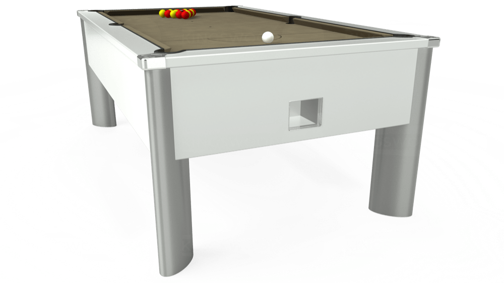 7ft Monarch Fusion Free Play Pool Table in White with Hainsworth Smart Taupe cloth delivered and installed - £1,300.00