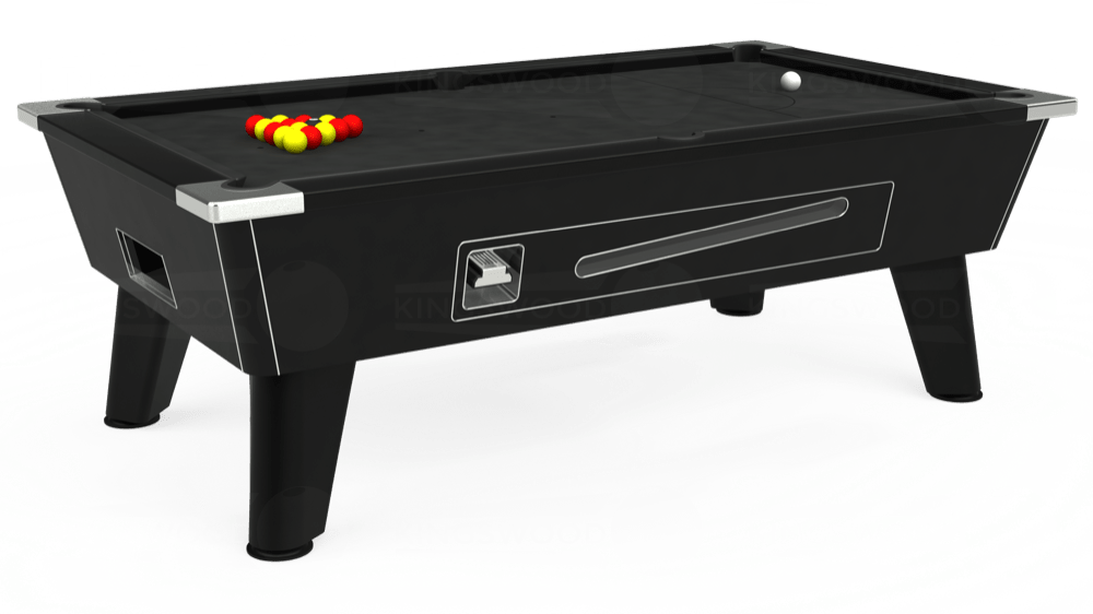 7ft Omega Coin Operated Pool Table in Black with Standard Black cloth delivered and installed - £1,150.00