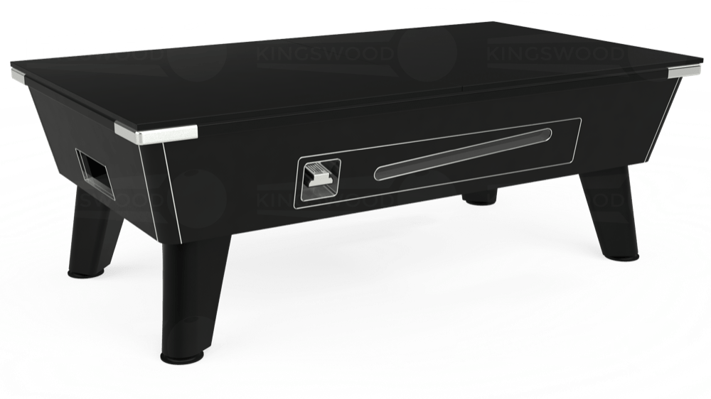7ft Omega Coin Operated Pool Table in Black with Hainsworth Elite-Pro Bankers Grey cloth delivered and installed - £1,210.00