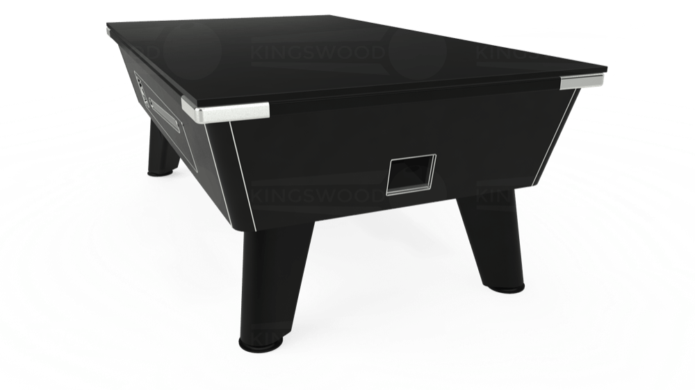 7ft Omega Coin Operated Pool Table in Black with Hainsworth Elite-Pro Fuchsia cloth delivered and installed - £1,250.00