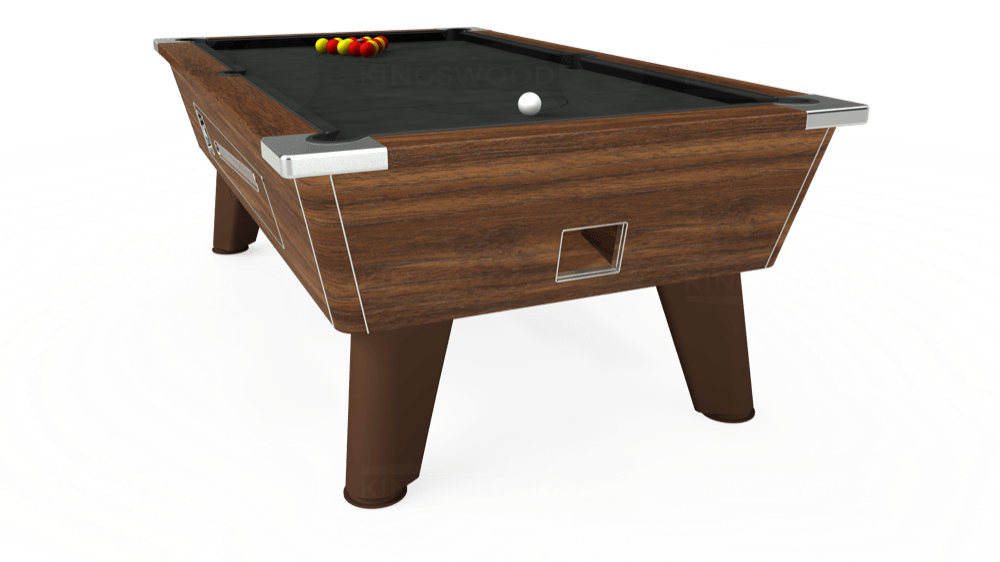 7ft Omega Coin Operated Pool Table in Light Walnut with Hainsworth Smart Sage cloth delivered and installed - £1,250.00