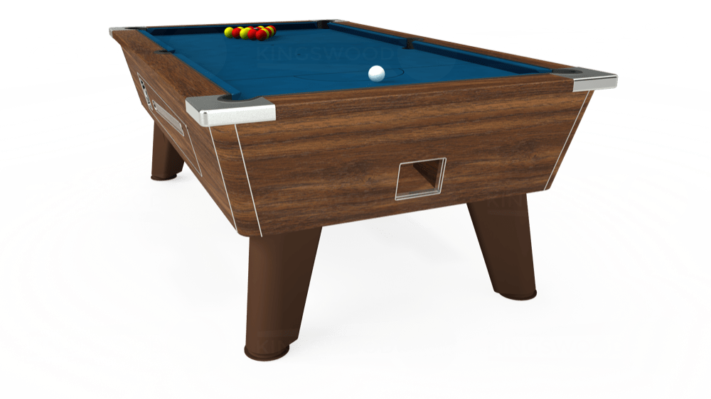 7ft Omega Coin Operated Pool Table in Dark Walnut with Hainsworth Smart Slate cloth delivered and installed - £1,250.00
