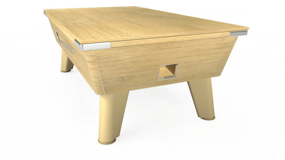 7ft Omega Coin Operated Pool Table in Light Oak with Hainsworth Elite-Pro Camel cloth delivered and installed - £1,250.00