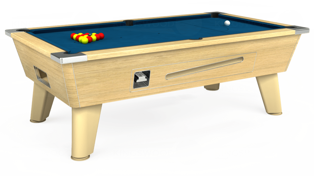 7ft Omega Coin Operated Pool Table in Light Oak with Hainsworth Smart Slate cloth delivered and installed - £1,250.00