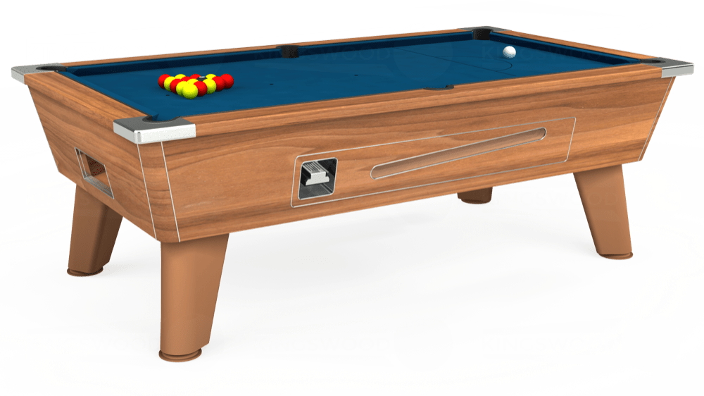 7ft Omega Coin Operated Pool Table in Light Walnut with Hainsworth Smart Slate cloth delivered and installed - £1,210.00