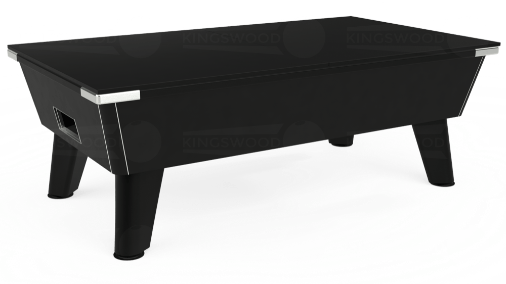 7ft Omega Free Play Pool Table in Black with Hainsworth Elite-Pro Marine Blue cloth delivered and installed - £1,125.00
