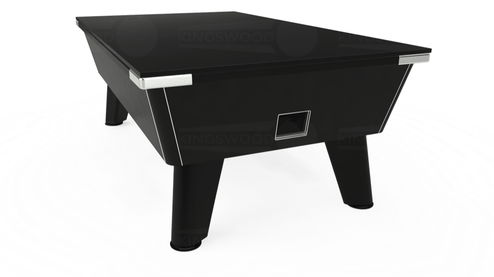 7ft Omega Free Play Pool Table in Black with Hainsworth Elite-Pro Red cloth delivered and installed - £1,125.00
