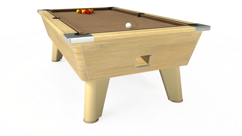7ft Omega Free Play Pool Table in Light Oak with Hainsworth Elite-Pro Camel cloth delivered and installed - £1,125.00