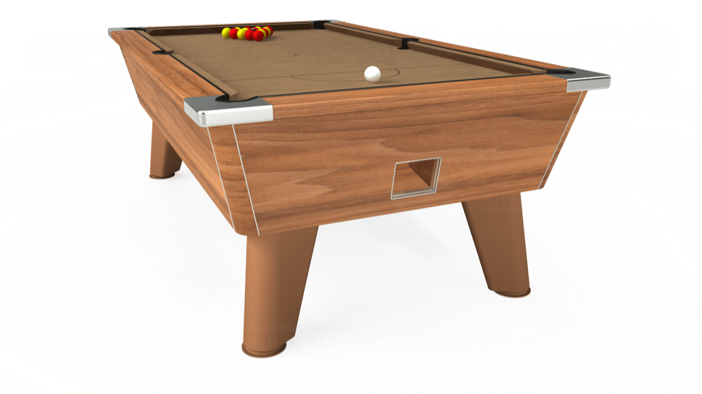 7ft Omega Free Play Pool Table in Light Walnut with Hainsworth Elite-Pro Camel cloth delivered and installed - £1,125.00