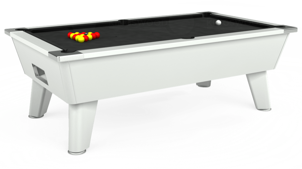 7ft Outback Free Play Pool Table in White with Standard Black cloth delivered and installed - £1,275.00
