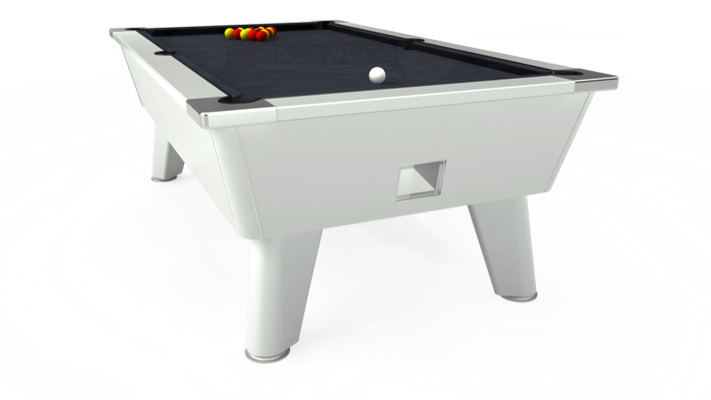 7ft Outback Free Play Pool Table in White with Hainsworth Elite-Pro Charcoal cloth delivered and installed - £1,375.00