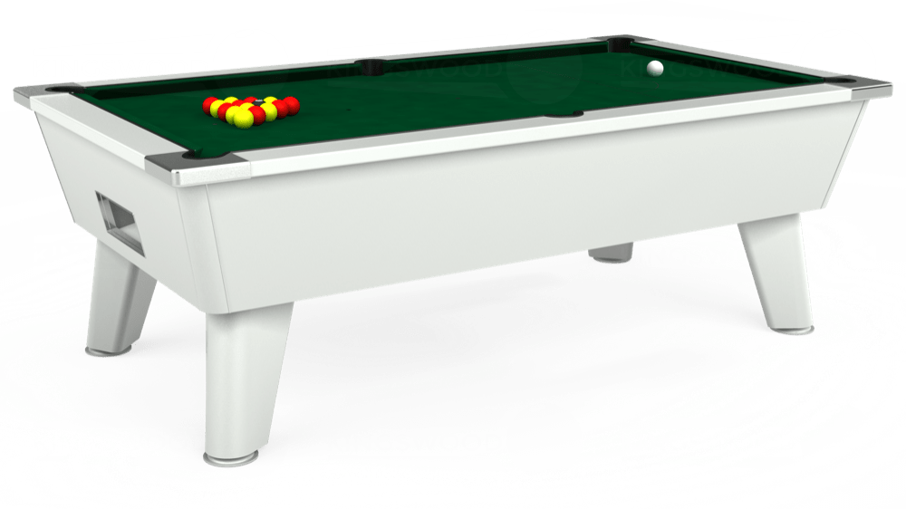 7ft Outback Free Play Pool Table in White with Hainsworth Elite-Pro Spruce cloth delivered and installed - £1,375.00