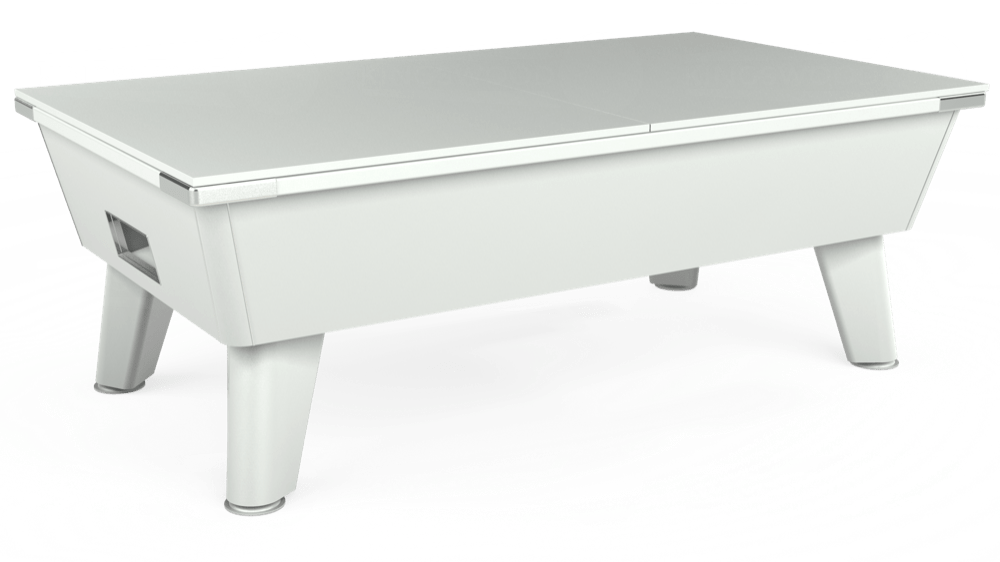 7ft Omega Free Play Pool Table in White with Hainsworth Smart Powder Blue cloth delivered and installed - £1,125.00