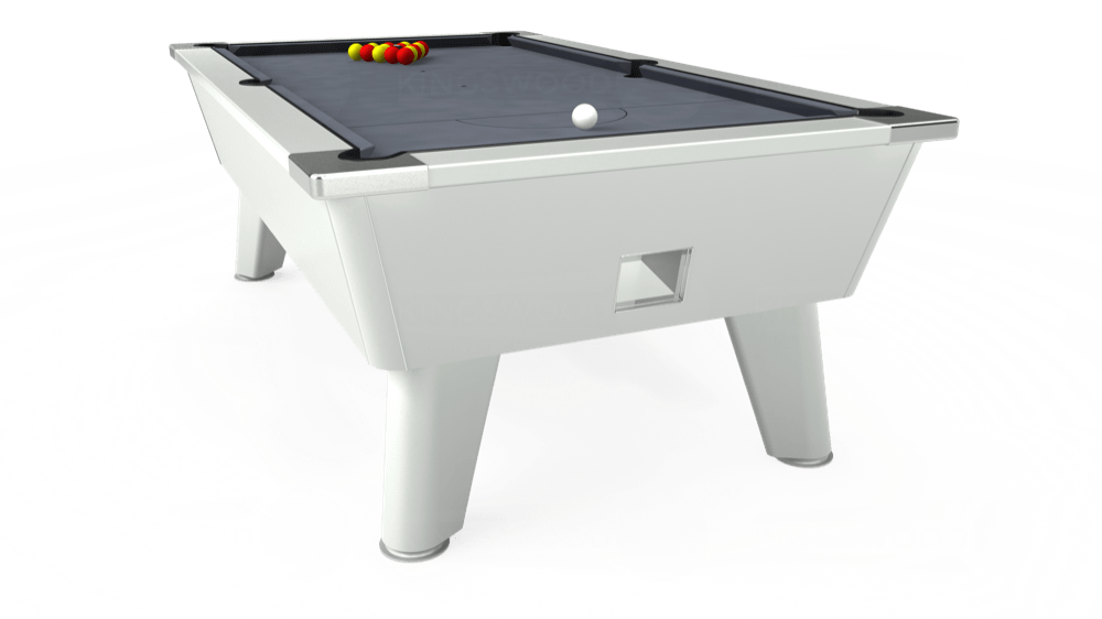 7ft Omega Free Play Pool Table in White with Hainsworth Smart Silver cloth delivered and installed - £1,125.00