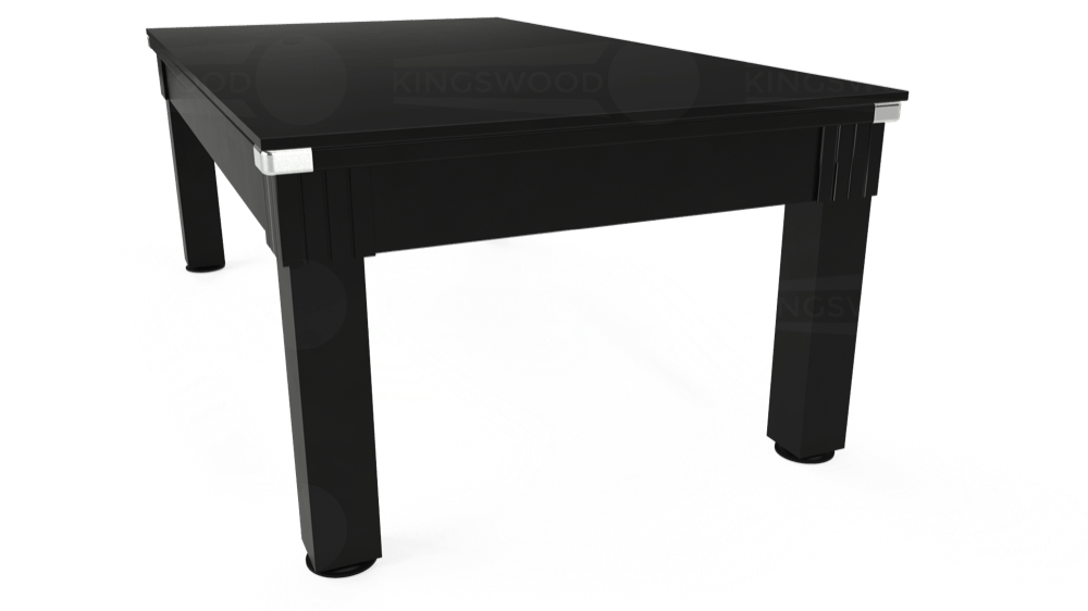 7ft Windsor Pool Dining Table in Black with Hainsworth Smart Taupe cloth delivered and installed - £1,150.00