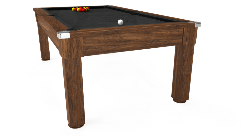 7ft Windsor Pool Dining Table in Dark Walnut with Standard Black cloth delivered and installed - £1,000.00