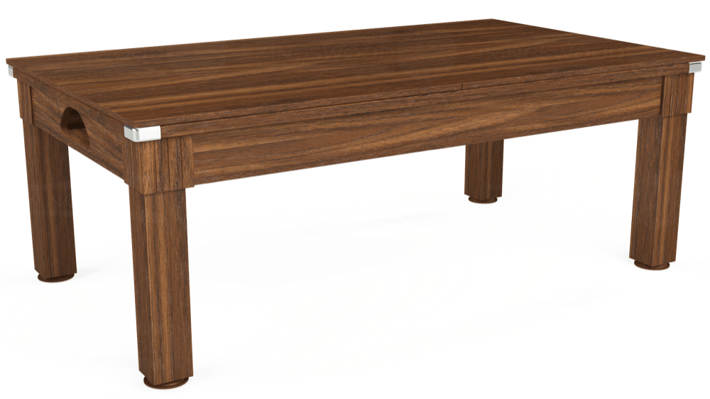 7ft Windsor Pool Dining Table in Dark Walnut with Standard Green cloth delivered and installed - £990.00