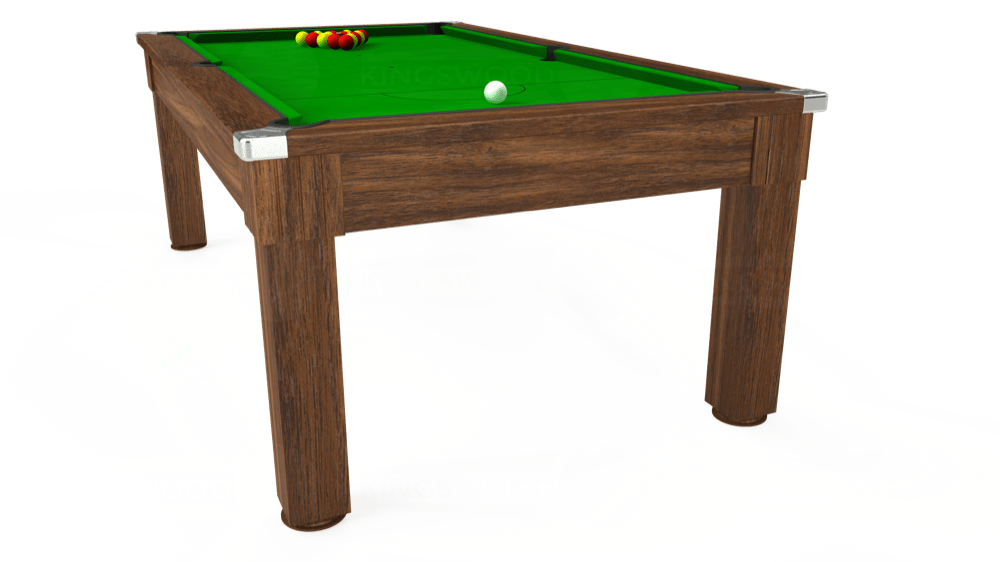 7ft Windsor Pool Dining Table in Dark Walnut with Standard Green cloth delivered and installed - £1,000.00