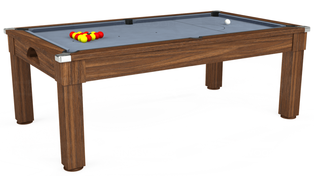 7ft Windsor Pool Dining Table in Dark Walnut with Hainsworth Elite-Pro Bankers Grey cloth delivered and installed - £1,090.00