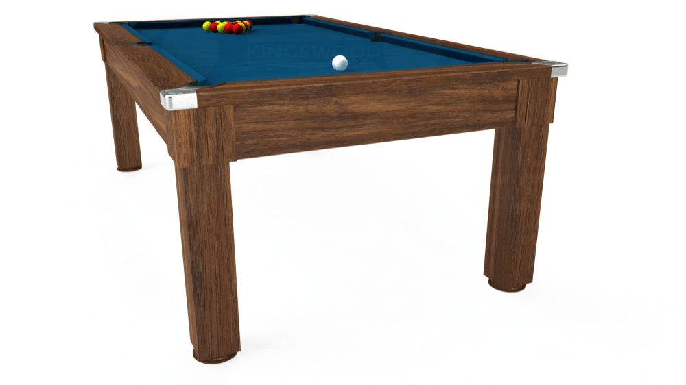 7ft Windsor Pool Dining Table in Dark Walnut with Hainsworth Smart Slate cloth delivered and installed - £1,100.00