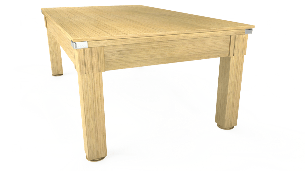 7ft Windsor Pool Dining Table in Light Oak with Standard Green cloth delivered and installed - £990.00