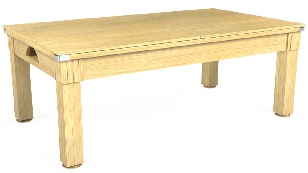 7ft Windsor Pool Dining Table in Light Oak with Hainsworth Smart Royal Navy cloth delivered and installed - £1,100.00