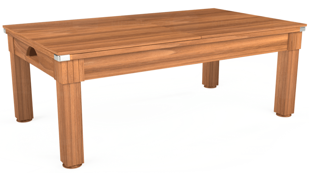 7ft Windsor Pool Dining Table in Light Walnut with Hainsworth Smart Gold cloth delivered and installed - £1,150.00