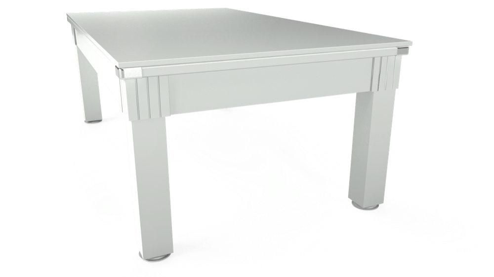7ft Windsor Pool Dining Table in White with Standard Green cloth delivered and installed - £990.00
