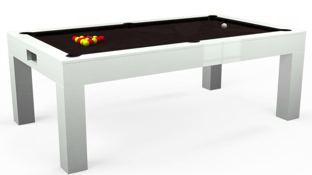 7ft Kingswood Aspen Pool Dining Table in Gloss White with Hainsworth Smart Nutmeg cloth delivered and installed - £2,200.00