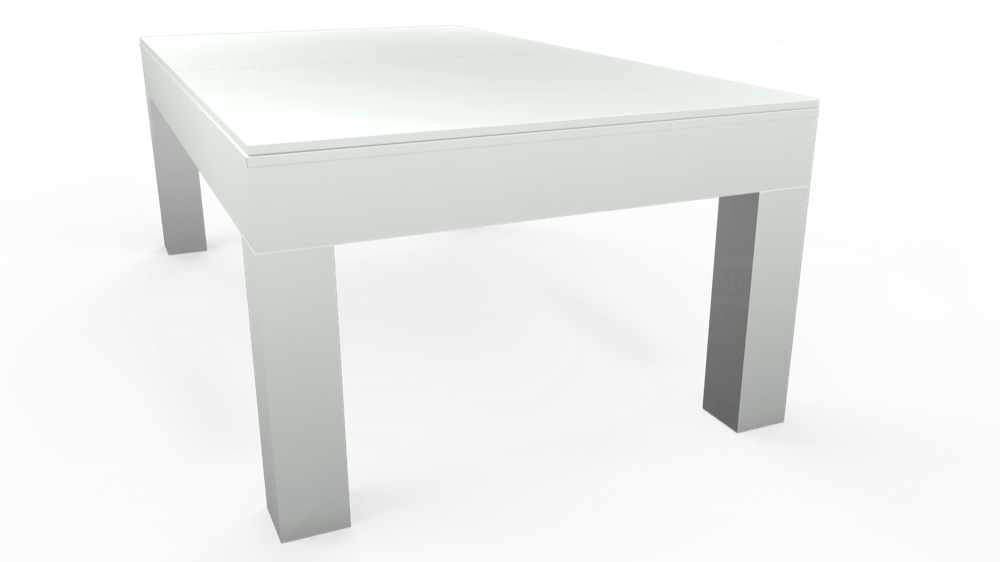 7ft Kingswood Aspen Pool Dining Table in Gloss White with Hainsworth Smart Slate cloth delivered and installed - £2,200.00