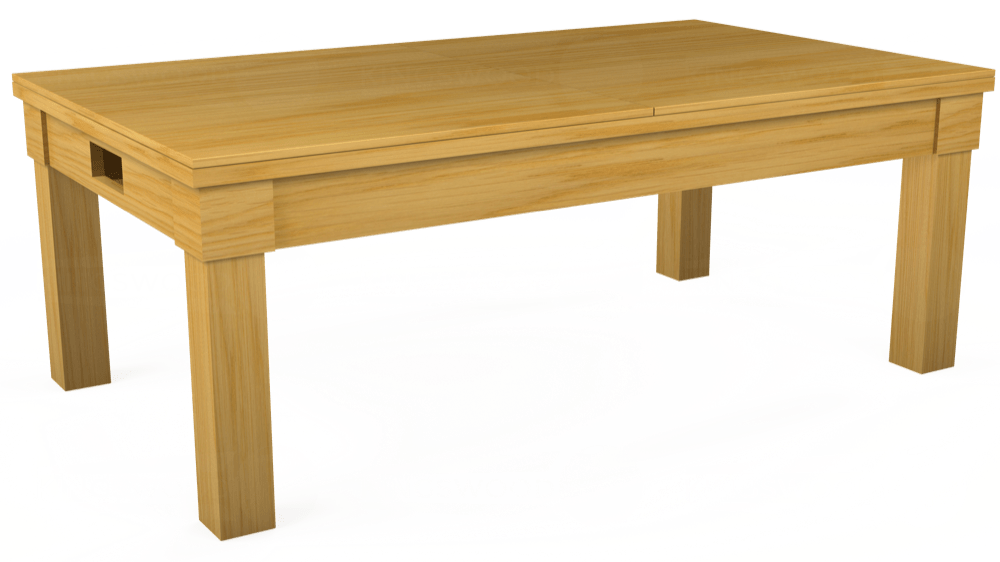 7ft Kingswood Oak Pool Dining Table in Oak with Hainsworth Smart French Navy cloth delivered and installed - £1,800.00