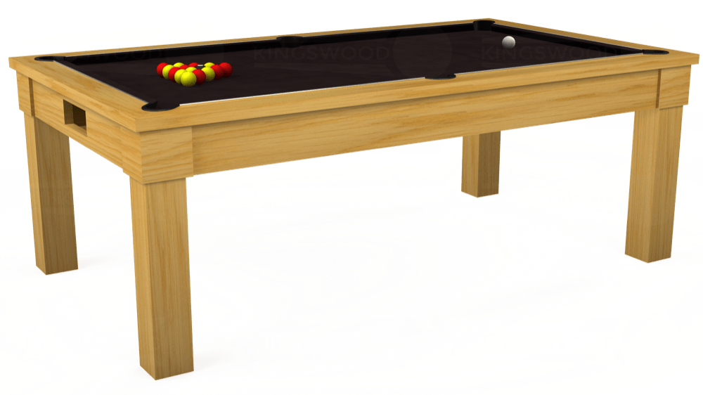 7ft Kingswood Oak Pool Dining Table in Oak with Hainsworth Smart Nutmeg cloth delivered and installed - £1,800.00
