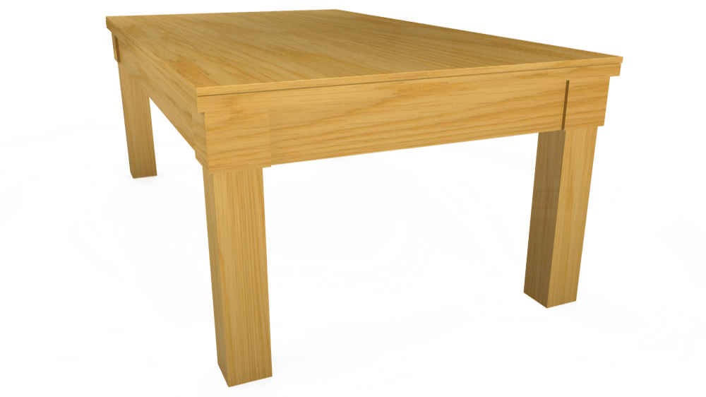 7ft Kingswood Oak Pool Dining Table in Oak with Hainsworth Smart Paprika cloth delivered and installed - £1,800.00
